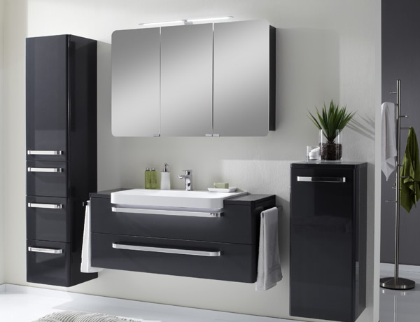 badm bel schwarz. Black Bedroom Furniture Sets. Home Design Ideas